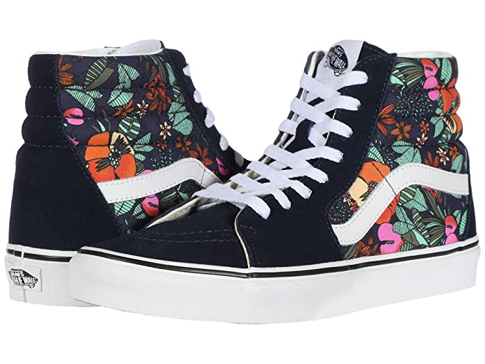 Mens Retro Shoes | Vintage Shoes & Boots Vans SK8-Hitm Multi Tropic Dress BluesTrue White Skate Shoes $59.99 AT vintagedancer.com