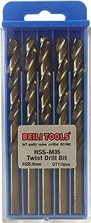 HSS M35 Cobalt Twist Drill Bits, Pack of 5 (8mm, 5/16