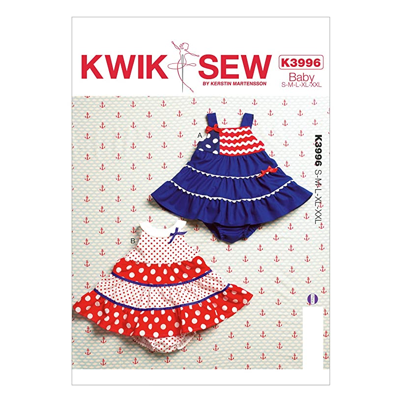 KWIK-SEW PATTERNS K3996OSZ Baby Dresses and Panties Sewing Template