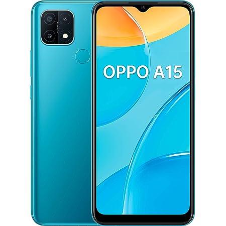 "OPPO A15 Smartphone, 179g, Display 6.52"" HD+ LCD, 3 Fotocamere 13MP, RAM 3GB + ROM 32GB Espandibile, Batteria 4230mAh, Ricarica Rapida, Dual Sim, [Versione Italiana], Colore Mistery Blue"