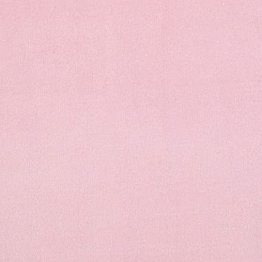 Mike Cannety Textiles Pink Solid Velour Fabric by The Yard