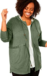Woman Within Women's Plus Size French Terry Swing Jacket
