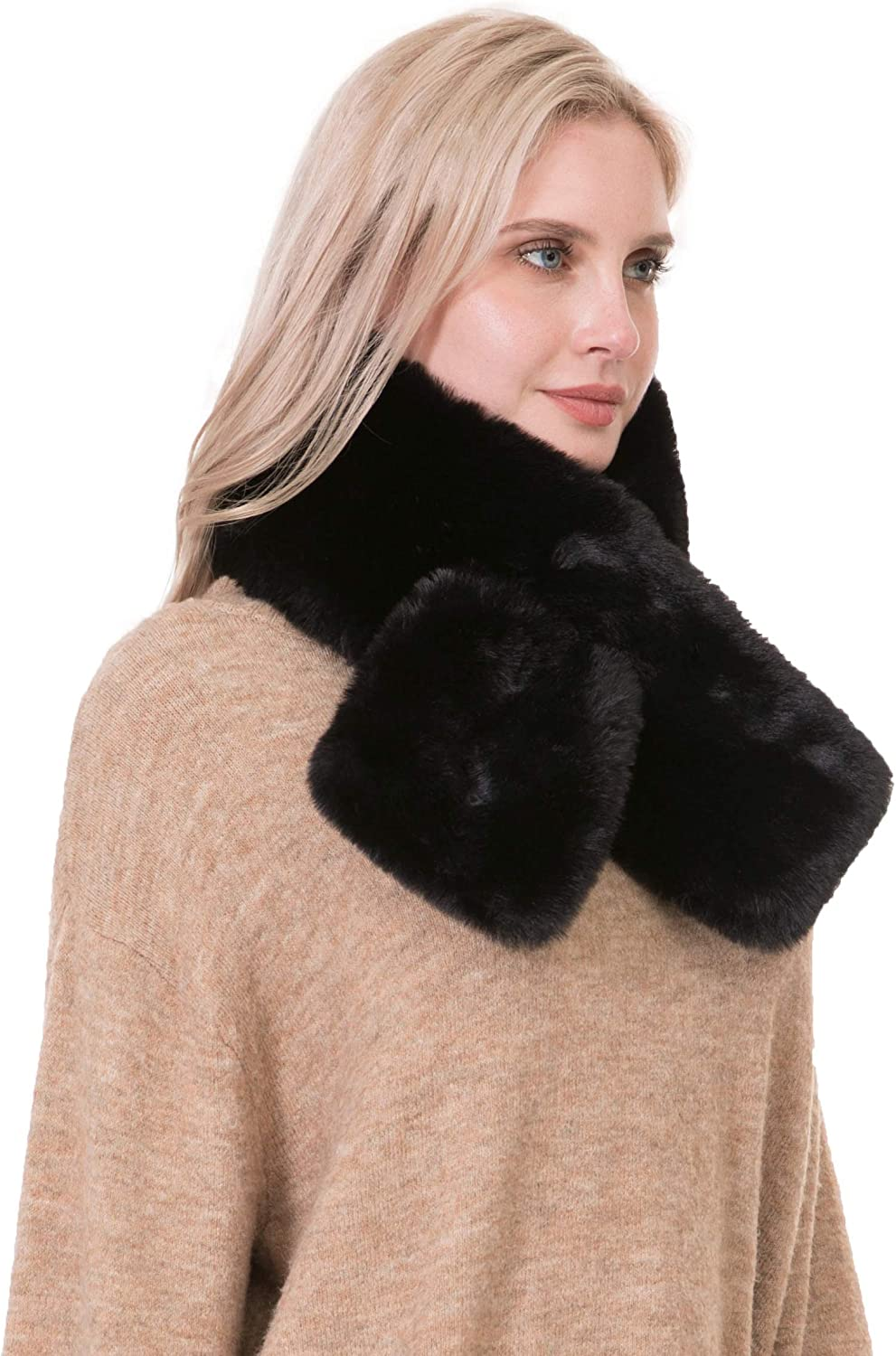 Rulala Fancy Faux Fur Scarf for Winter Rect Soft Cozy Warm Women Over item handling ☆ Manufacturer direct delivery