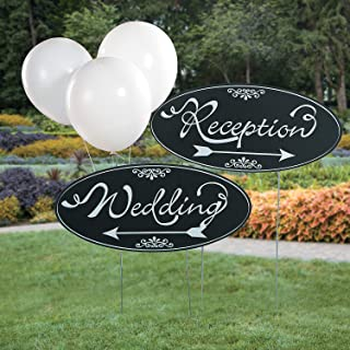Wedding Yard Sign Kit for Wedding (2 pieces) Includes metal stakes
