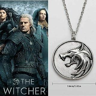 Colgante con diseño de cabeza de lobo, The Witcher Geralt