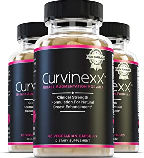 Curvinexx (3 Bottles): The Ultimate Natural Breast Growth and Enhancement Pills | Enlargement Supplement to Boost Your Con...