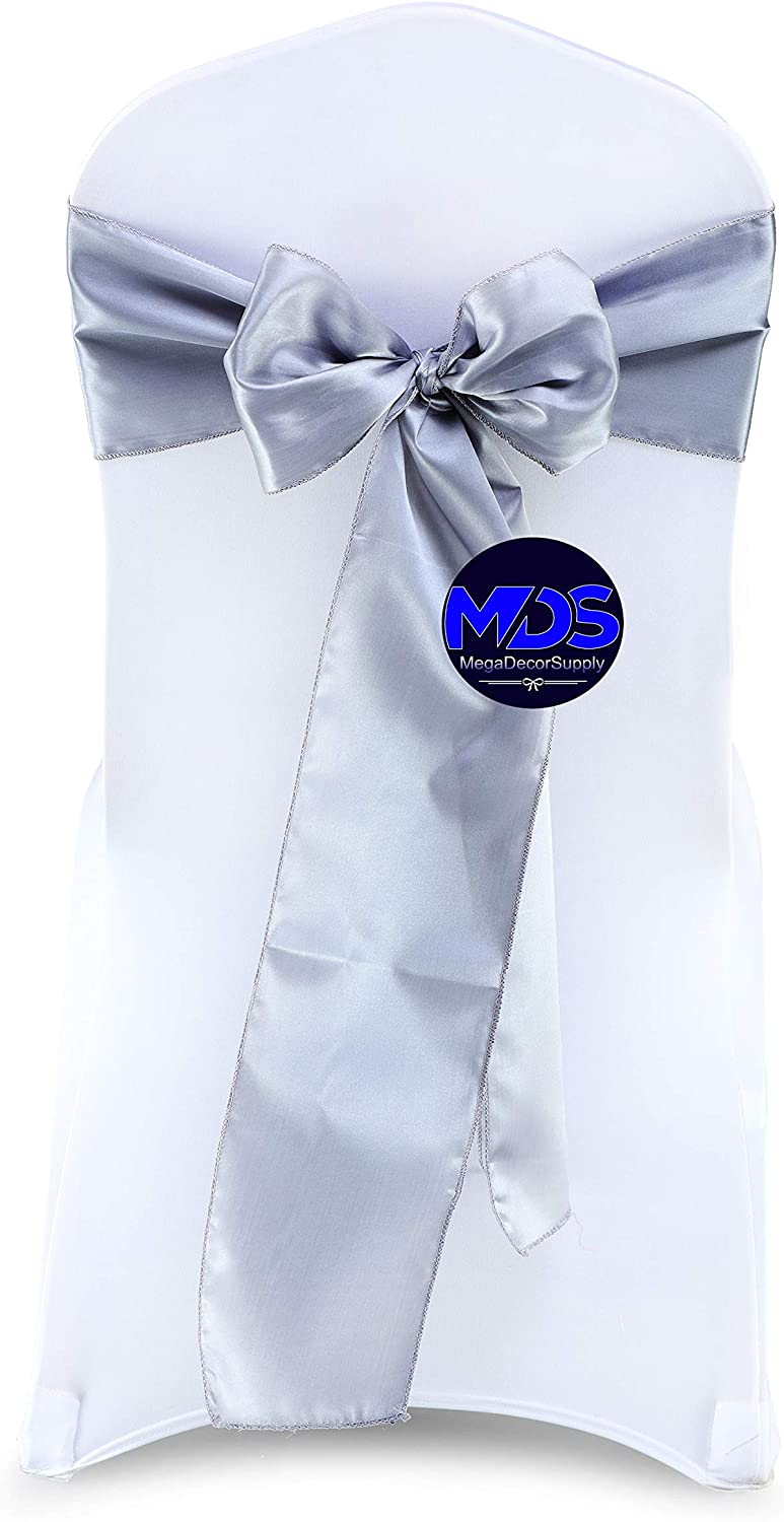 Animer and price revision mds Pack of 250 Satin Chair Sashes for sash Bow Even famous Wedding and