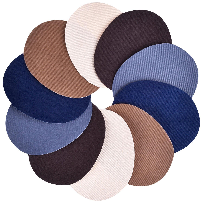 5 Colores 10 Piezas Parches Termoadhesivos 5 por 3,9 Pulgadas Parches de Vaqueros Kit de Reparación de Planchar: Amazon.es: Hogar