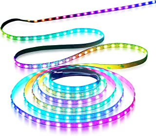 Aclorol WS2812B Individually Addressable RGB LED Strip 5M 60 Pixels/M 5V Programmable 16.4ft 300 Pixels WS2812 Strip Lighting Black PCB Non-Waterproof