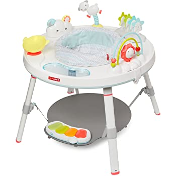 Skip Hop Baby Activity Center: Interactive Play Center with 3-Stage Grow-with-Me Functionality, 4mo+, Silver Lining Cloud