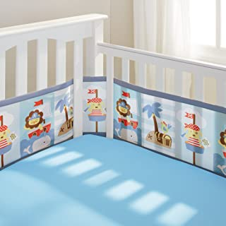 BreathableBaby | Mesh Crib Liner |Buried Treasure | Blue/Brown/White/Gray/Yellow/red
