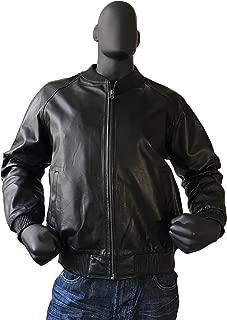 Jakewood Men's Leather Bomber Baseball Varsity Spring Jacket Real Lambskin Leather Regular and Big & Tall Sizes