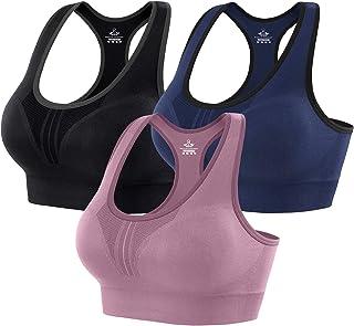 Heathyoga Hoge Impact Sport Bras voor Vrouwen Gewatteerde Sport Bras voor Vrouwen Workout BH voor Vrouwen Racerback Bras Y...