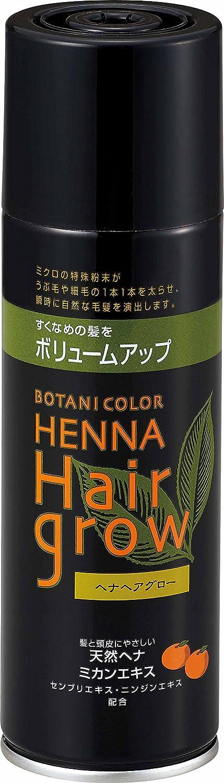ヘナヘアグロー スプレー式染毛料 ブラック 150g
