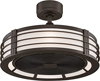 Fanimation Beckwith FP79640B Ceiling Fan with Frosted Shade Light Kit and Remote, 13-inch, Oil-Rubbed Bronze