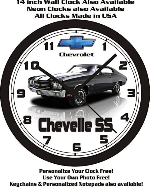 1970 CHEVROLET CHEVELLE SS WALL CLOCK FREE USA SHIP Choose 1 Of 3