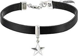 King Baby Studio - Leather Choker Necklace with Star