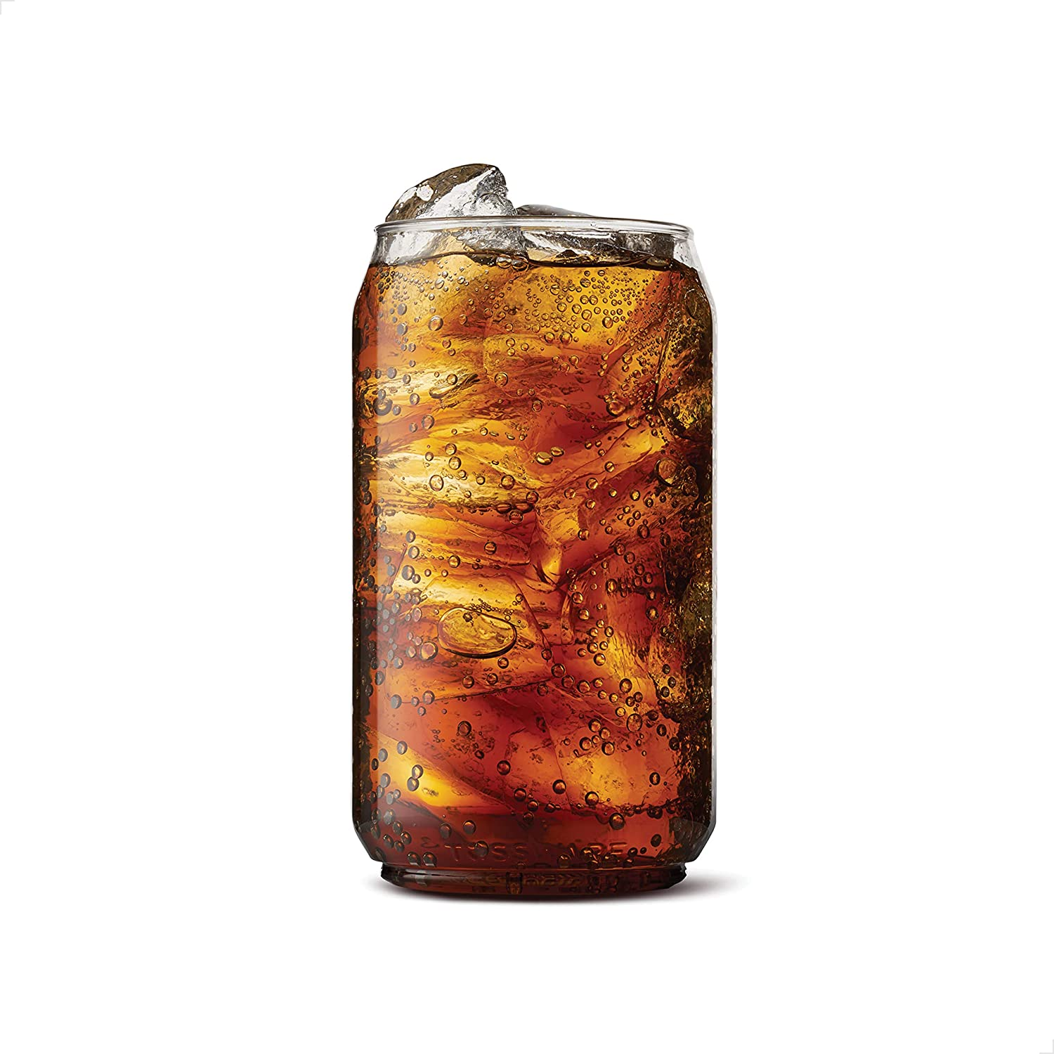 TOSSWARE POP 12oz SET OF 12, Recyclable, Unbreakable & Crystal Clear Plastic Beer Can, 12 Count (Pack of 1)
