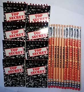Top Secret Notebooks and Pencils 12 Pack