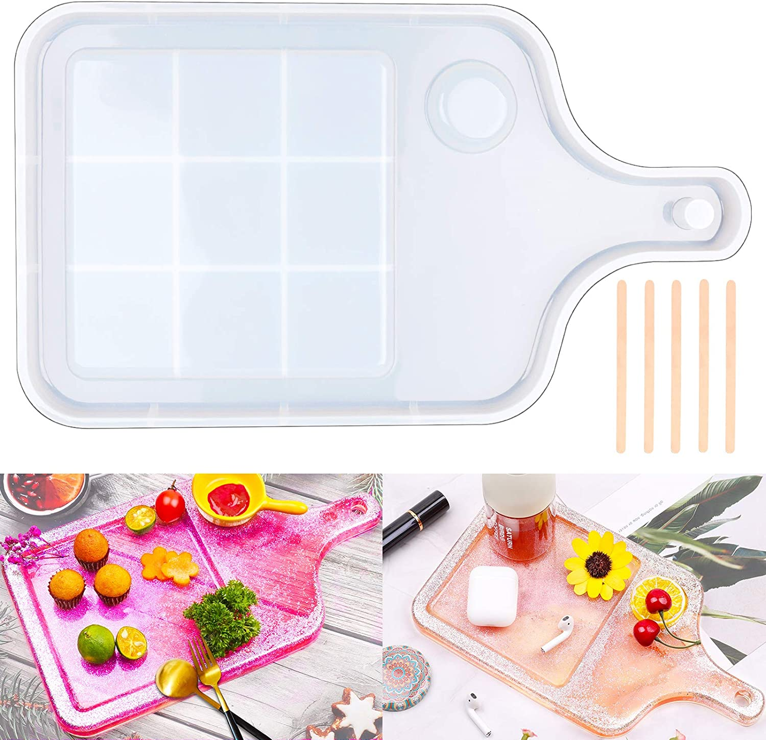 DIY Mesa Mall Price reduction Serving Epoxy Resin Mold Silicone Tray GACUYI wi