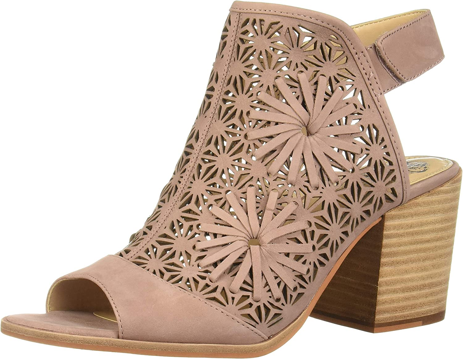 Vince Low price Camuto Women's Leera Synthetic Ankle Toe Finally popular brand Strap Wedge Open