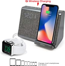 iHome iBTW39 Bluetooth Dual Alarm Clock with Wireless Charging, Speakerphone and USB Charging Port