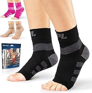 Powerlix Nano Socks for Neuropathy (Pair) for Women & Men, Ankle Brace Support, Plantar fasciitis socks, Toeless Compressi...