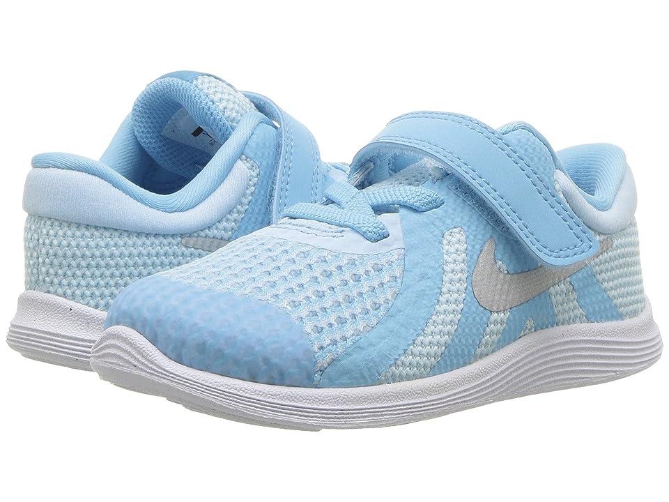Nike Kids Revolution 4 (Infant/Toddler) (Cobalt Tint/Metallic Silver/Blue Chill) Girls Shoes
