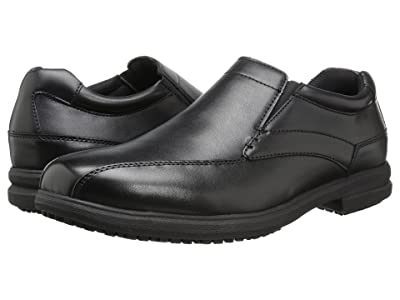 Nunn Bush Sanford Slip Resistant Bicycle Toe Work Slip-On (Black) Men