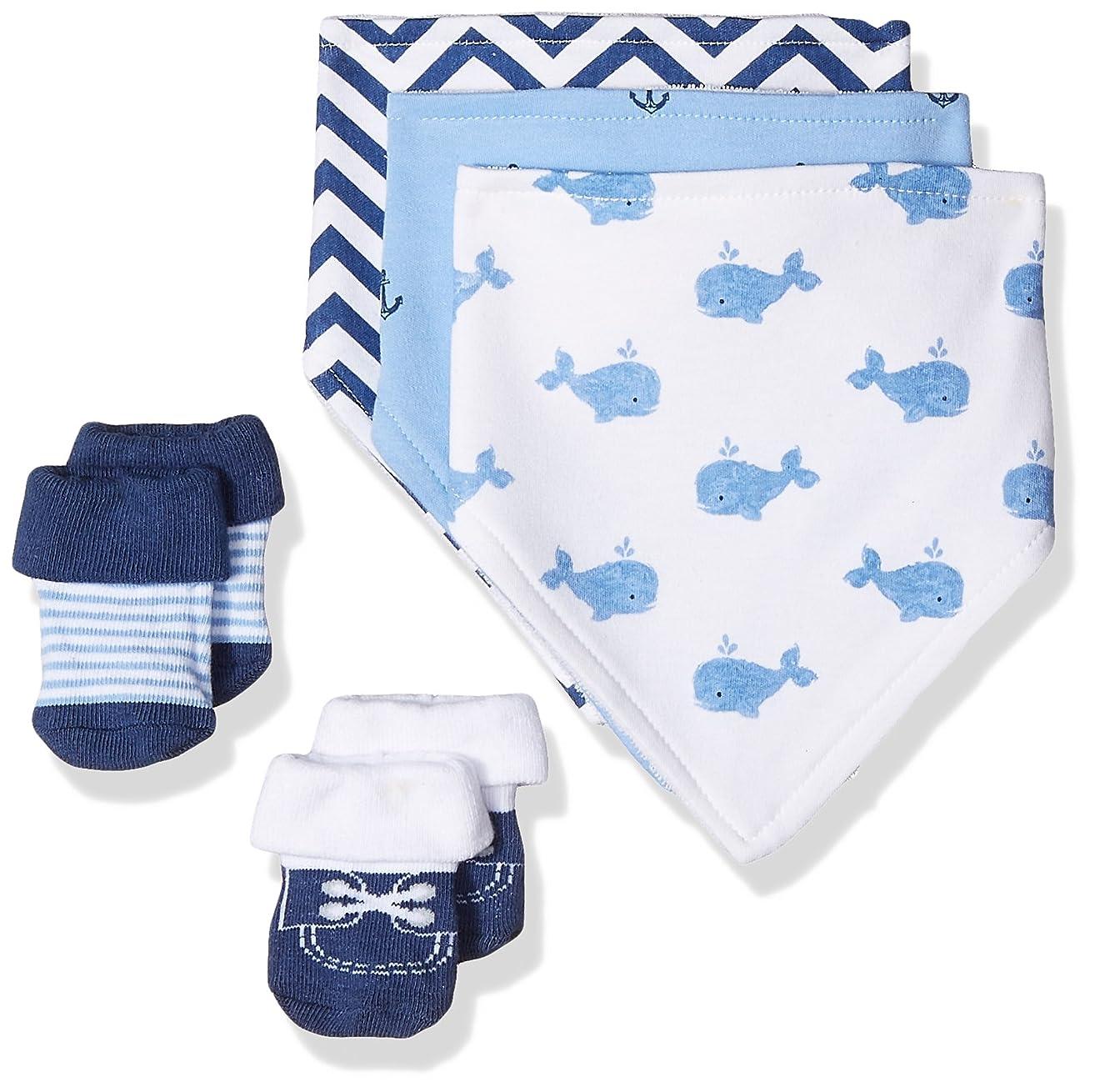 Hudson Baby Baby Bandana Bib & Socks Set