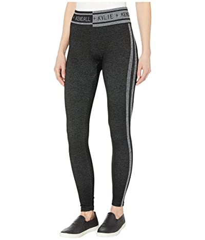 KENDALL + KYLIE Blocked Seamless Leggings (Black) Women