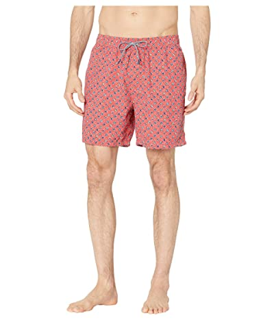 Reyn Spooner Java Flowers Swim Trunks (Poppy Red) Men