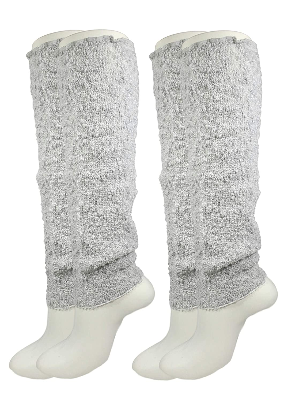 TocoToco(トコトコ)日本製 綿97%(肌に触れる部分綿100%) やわらかタイプ レッグウォーマー2枚セット(両足分×2) 約40cm丈 ゴム無し ゆったり 男女兼用 オールシーズン対応
