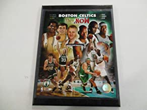 BOSTON CELTICS 2008 PHOTO FILE *THEN AND NOW* FEATURING LARRY BIRD - KEVIN MCHALE - ROBERT PARISH MOUNTED ON A 9