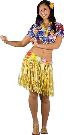 Fiori Paolo - Disfraz Hawaiana para mujer adulto, multicolor, talla 40-42, 62080