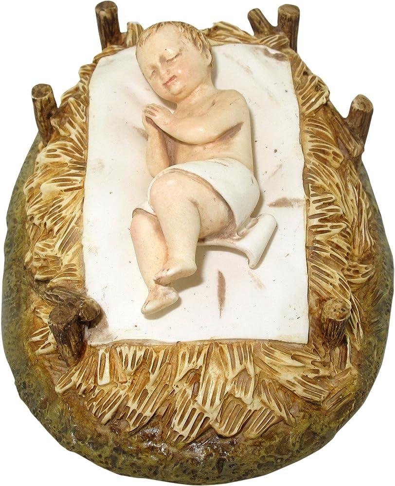 Ferrari & arrighetti statua presepe  linea martino landi,gesù bambino nella culla 120 cm 24120NAGB