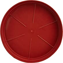 """GARDENS NEED 110032 Plastic Drip Tray Set 6"""" (8 Number, Brown, 15-Pieces)"""