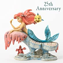 """Disney Traditions by Jim Shore """"The Little Mermaid"""" 25th Anniversary Stone Resin Figurine, 6.25"""""""