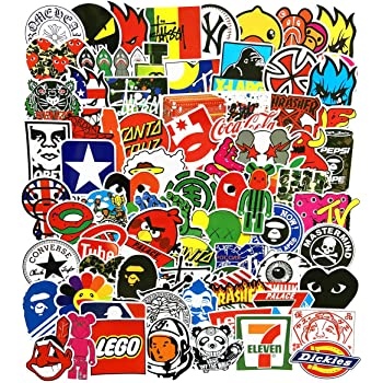 No-Duplicate Sticker Pack sticker 101 Sticker Pack Cool Stickers 100PCS Fashion Brand Stickers for Laptop Stickers Motorcycle Bicycle Skateboard Luggage Decal Graffiti Patches Stickers for