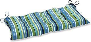 Pillow Perfect Indoor/Outdoor Topanga Stripe Lagoon Swing/Bench Cushion