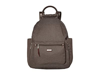 Baggallini New Classic Heritage All Day Backpack with RFID Phone Wristlet (Dark Umber) Backpack Bags