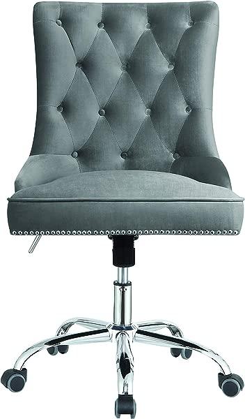 Coaster Home Furnishings Modern Grey Velvet Office Chair
