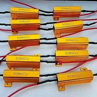 LED Load Resistor 50W 6 ohm - LED Turn Signal Resistor Flasher - Fix LED Bulb Fast Hyper Flash Turn Signal Blink Error Code (10 pcs)