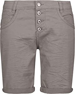 Urban Surface Women's Bermuda Shorts; Comfortable Stretch Twill Fabric Shorts Loose Fit