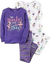 Carter's 12m 24m 4 piezas ajustados pijamas bailarina para niñas