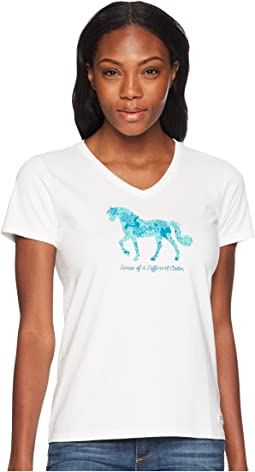 Horse Of A Different Color Crusher Vee Tee