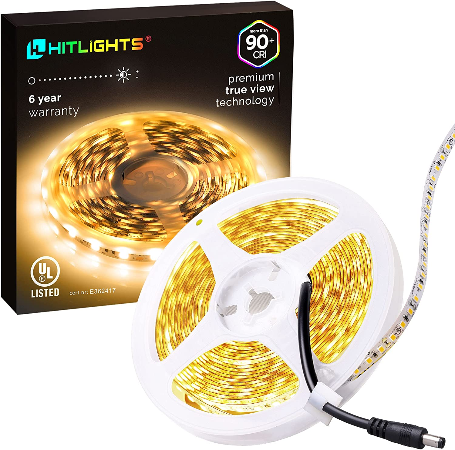 HitLights LED Selling Strip Lights Warm Premium White UL-Listed 10ft Same day shipping Hi