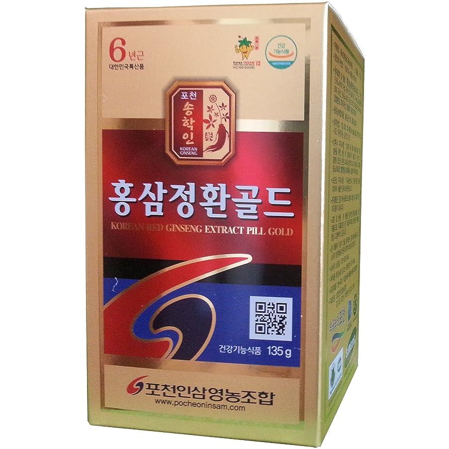 舌酸スカープ高麗人参 抱川人参営農組合 6年根 高麗紅参精丸 ゴールド 135g 1本, 68%紅参含量