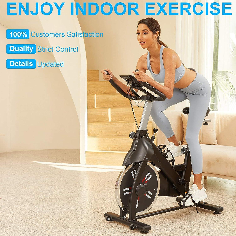 CAROMA Heimtrainer Fahrrad Indoor Spinning Bike Profi Heimtraining Speedbike LCD Display Einstellbare Lenker und Sitz Fitnessbike