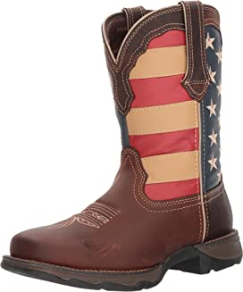 Lady Rebel Flag Steel Toe